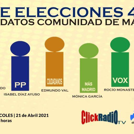 ELECCIONES MADRID | Debate de candidatos el 4 de Mayo a la Comunidad de Madrid