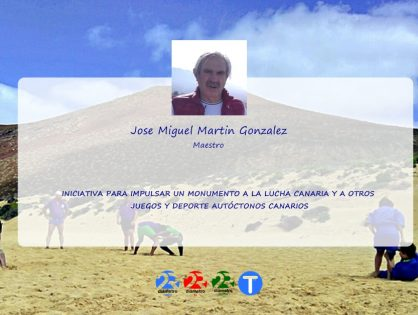 JOSE MIGUEL MARTIN GONZALEZ | Monumento a la lucha canaria y a otros juegos y deportes autoctonos canarios.